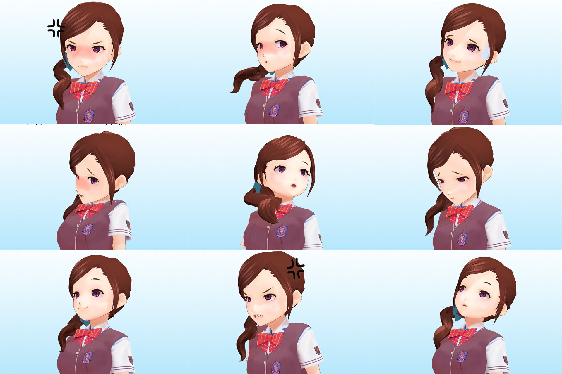 Akane High School Sophomore Class 3 #15, Koi Shiramine Summer Ver. 3D Model