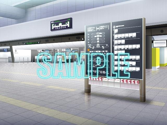 背景素材:空港ロビー