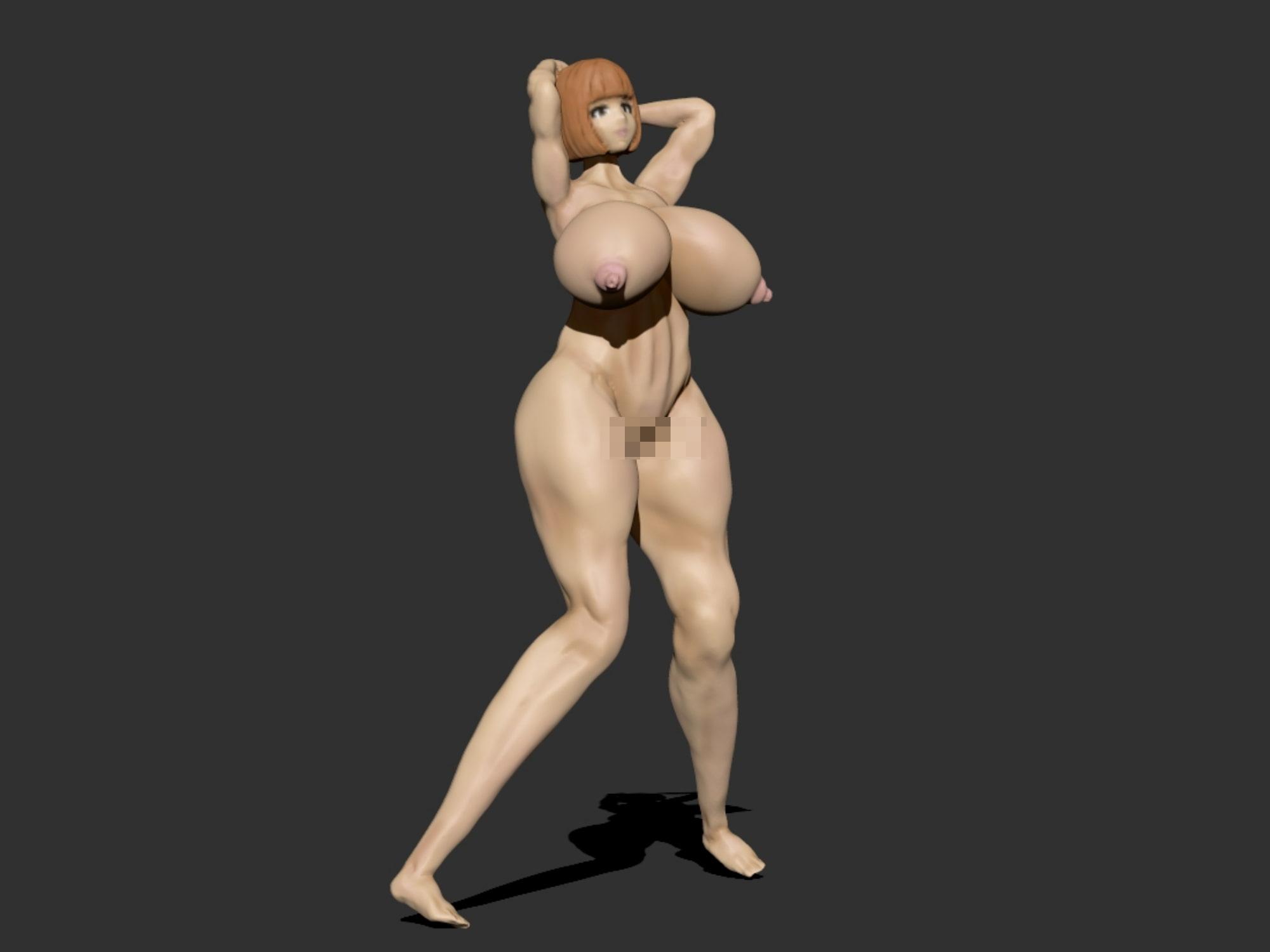 [3Dモデル] 爆乳アピール女子