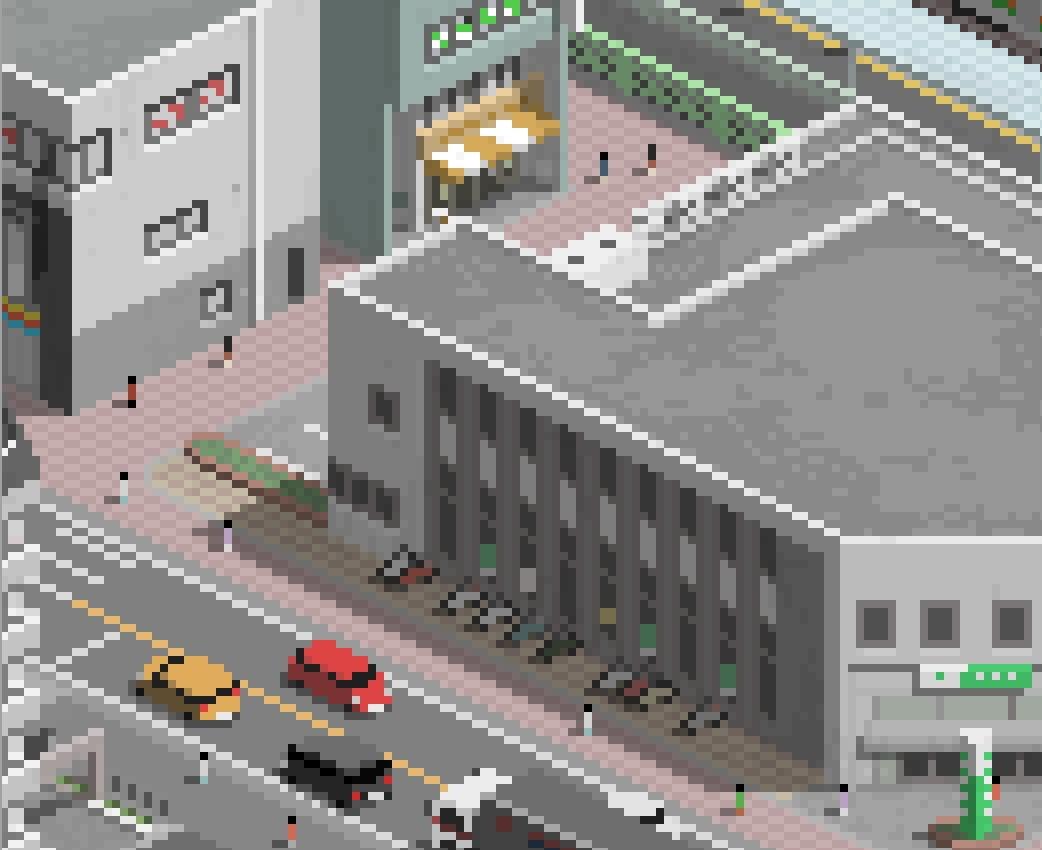 駅周辺建物セットA
