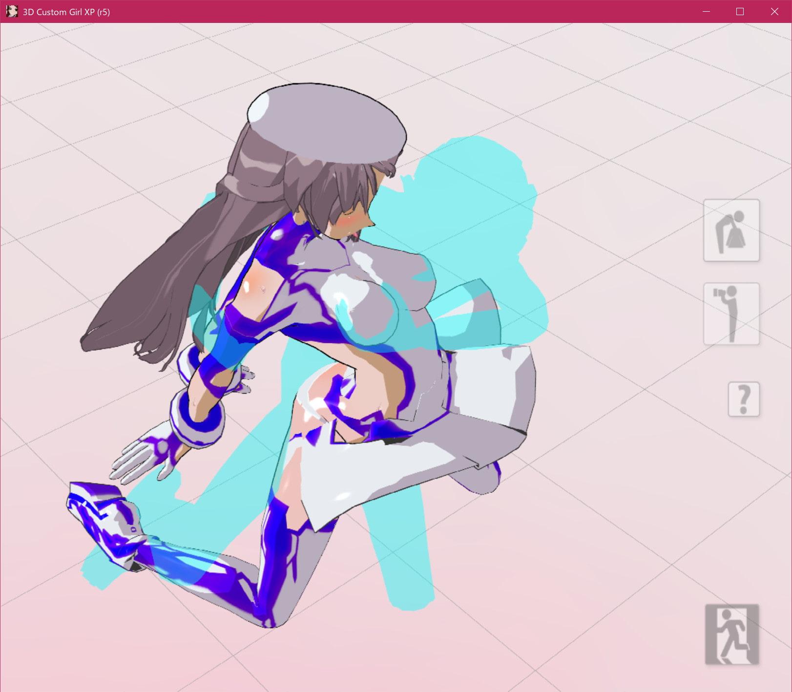 3Dカスタム少女改変モーション(バックモーション)SmallPack1