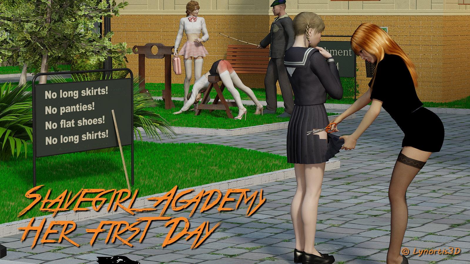 Slavegirl Academy Her First day