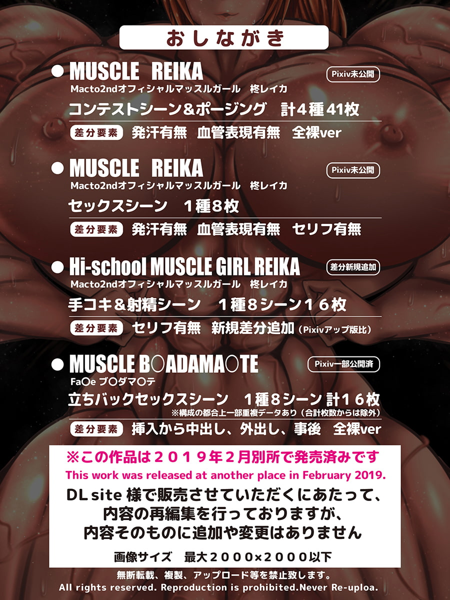 MUSCLE GIRL ILLUSTRATIONS Vol.1 筋肉娘イラストCG集1