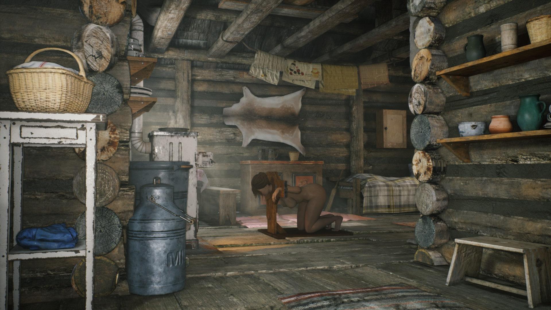 山小屋に監禁される女360°