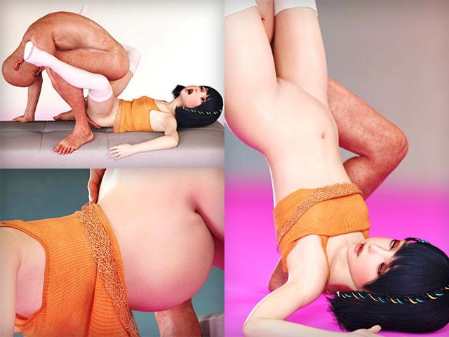 小柄な凛ちゃんとおじいちゃんの近親相姦セックス写真集(ボテ腹妊婦差分有り)