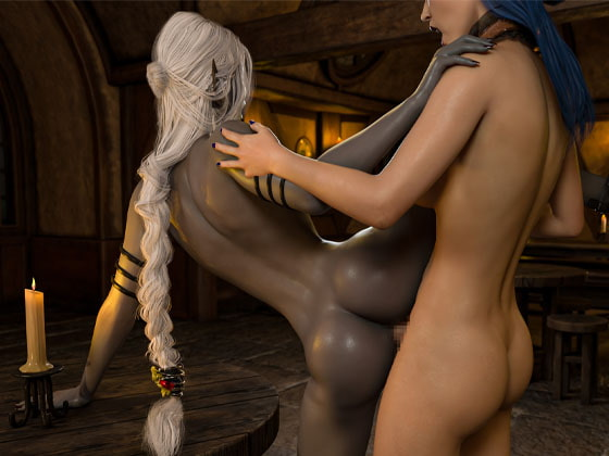 RJ314595 Dark Elf Laele and the Futa Bar Maid [20210118]