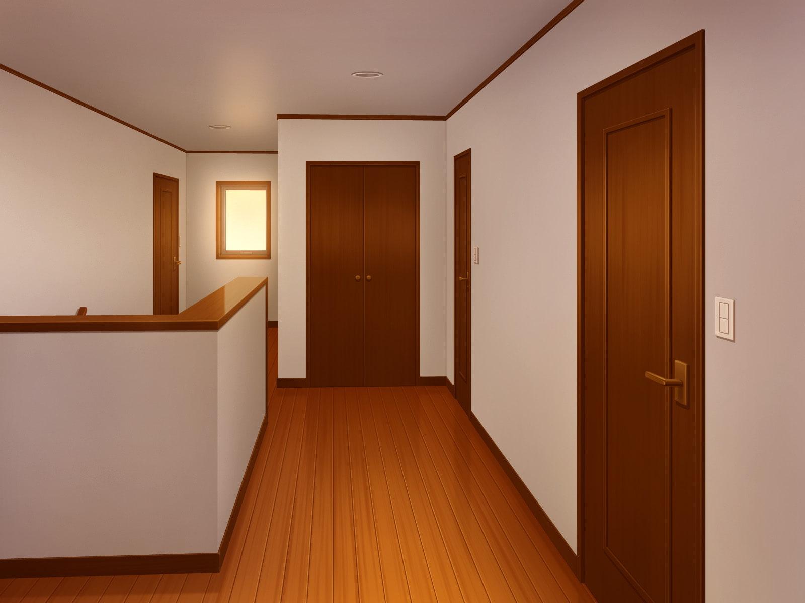 フリー背景素材 住宅 廊下