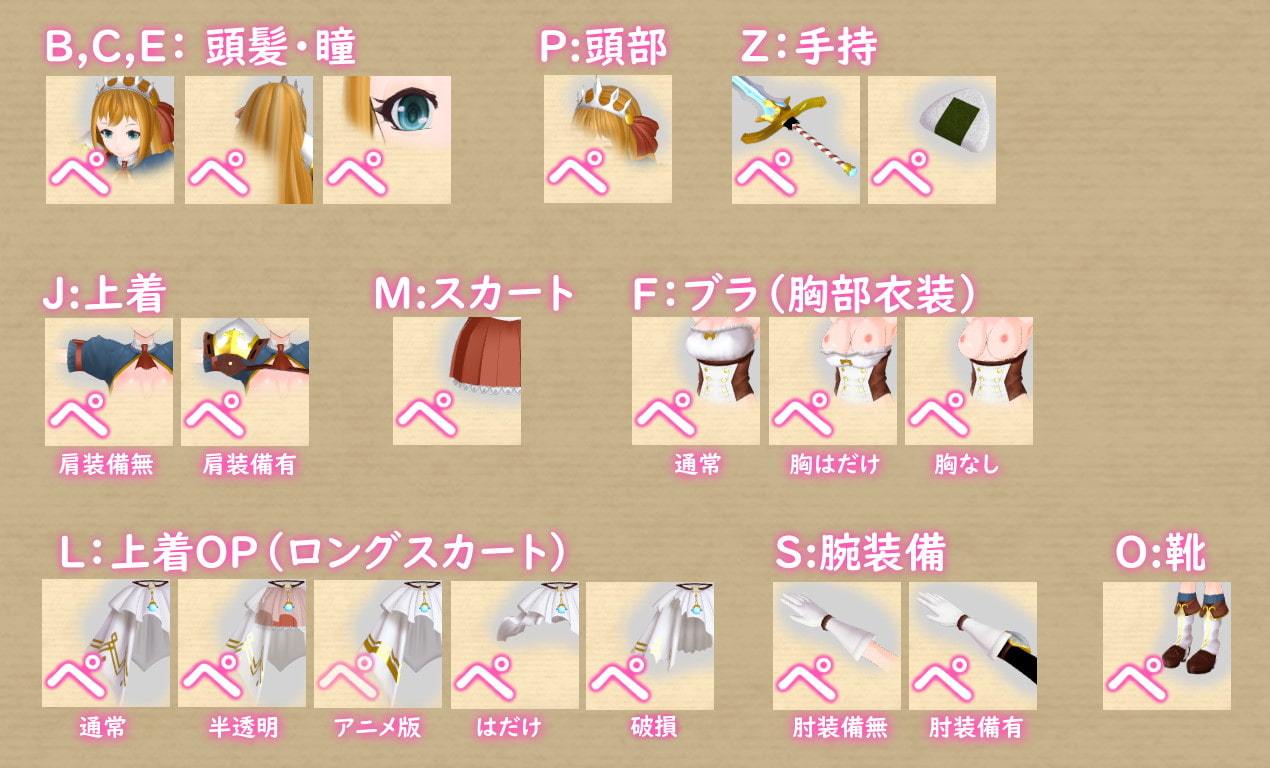 3Dカスタム少女用追加衣装セット
