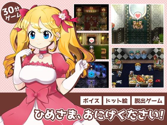 【新着同人ゲーム】ひめさま、おにげください!のトップ画像
