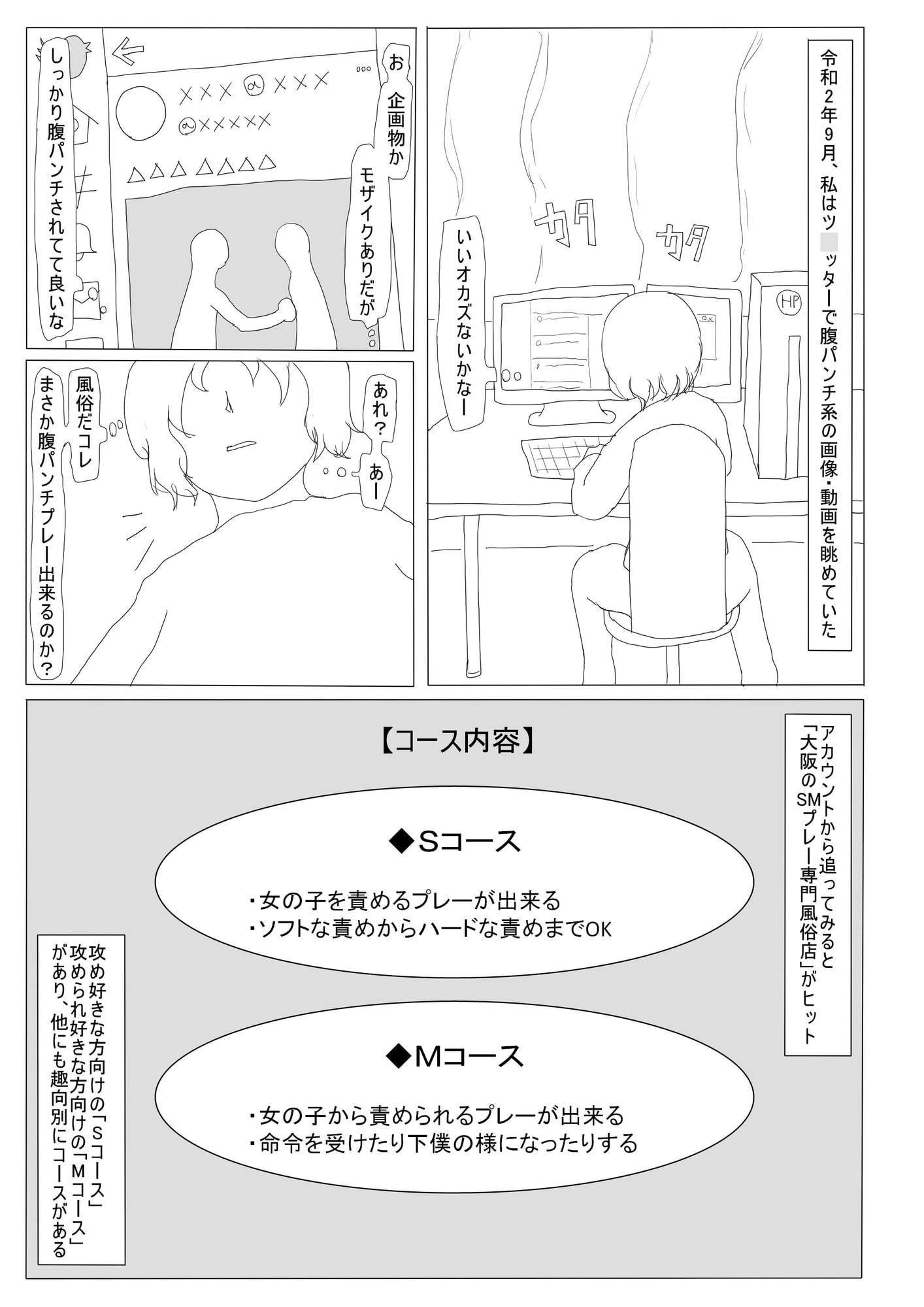 RJ316569 腹パンチ系風俗 レポート漫画 [20210204]