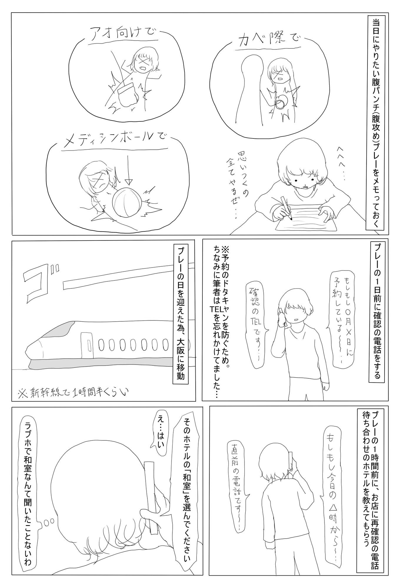 腹パンチ系風俗 レポート漫画