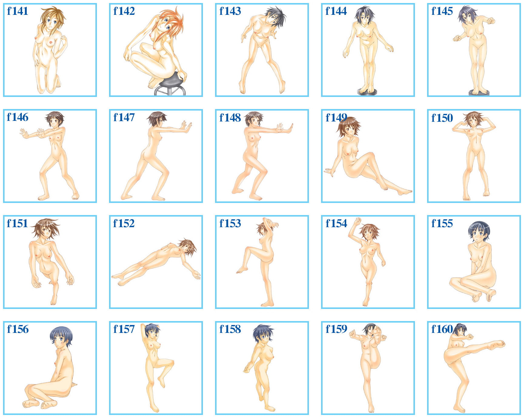 RJ317290 裸婦イラストポーズ集 vol.08 [20210211]
