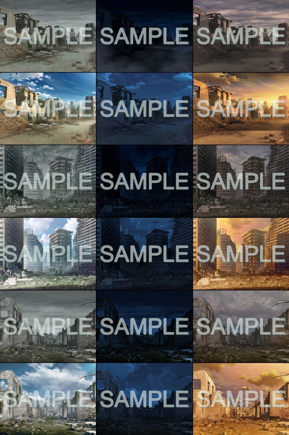 みにくる背景CG素材集『廃墟編』part01