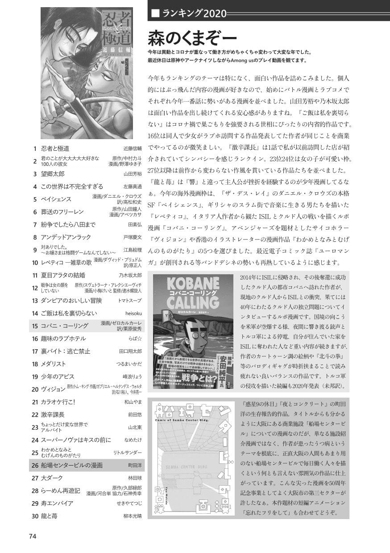 このマンガガガガ vol.12 2020 WINTER