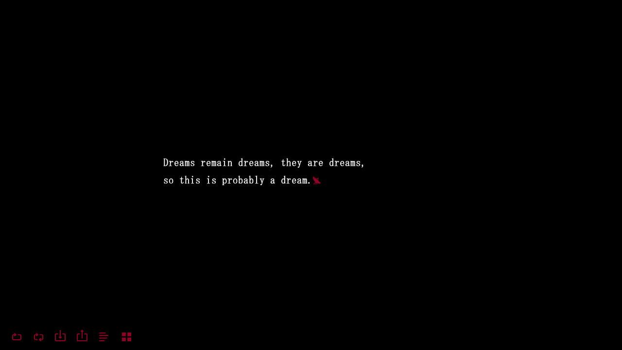 That's Like a Dream...?