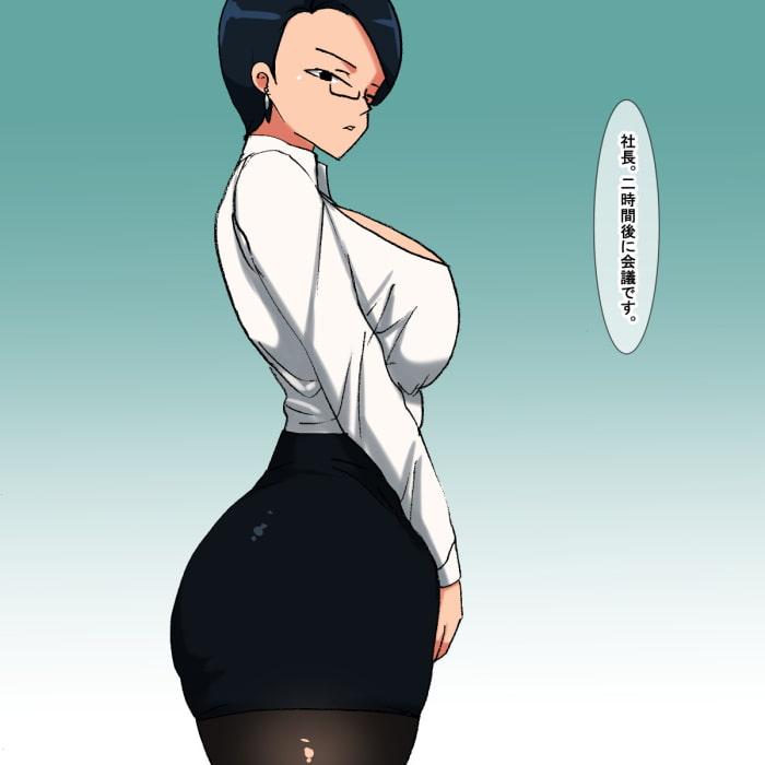 lp 眼鏡(めがね)をかけた社長秘書