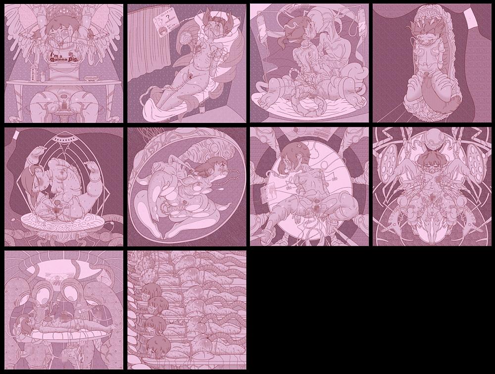 アイナの実験記録if 線画集4