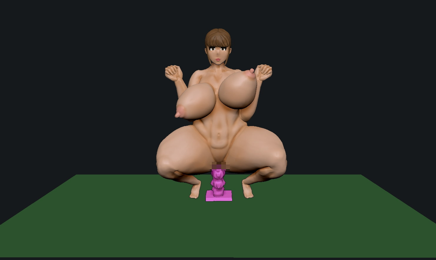 [3DCG] ピストン姉さん
