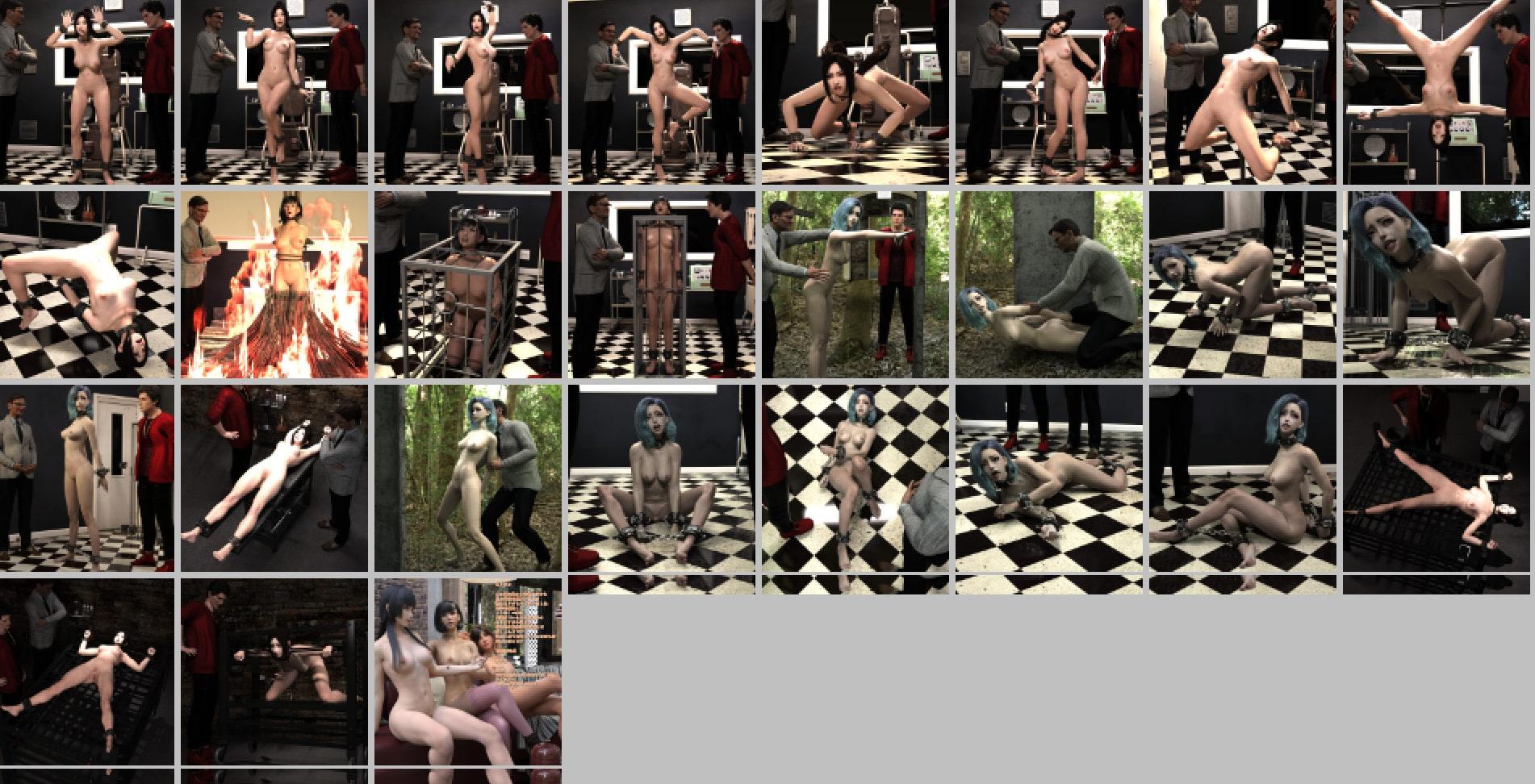 美少女・全裸・拘束・洗脳・監禁・陵辱画像集