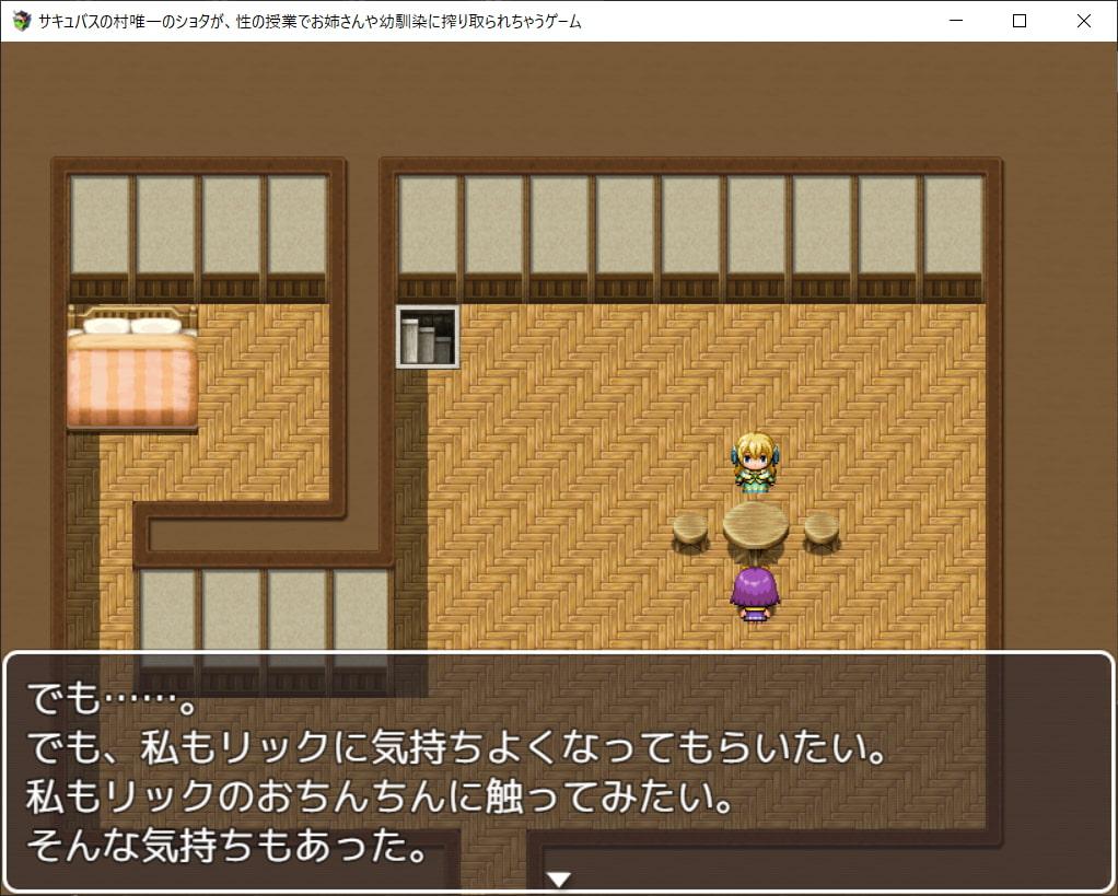 RJ325281 サキュバスの村唯一のショタが、性の授業でお姉さんや幼馴染に搾り取られちゃうゲーム [20210425]