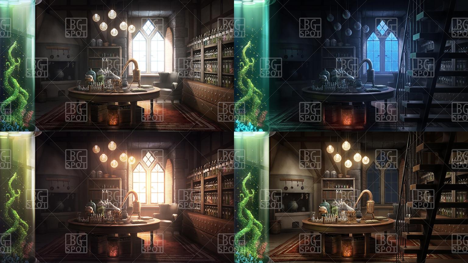 BG_中世の風呂場(商品番号:RJ326680)