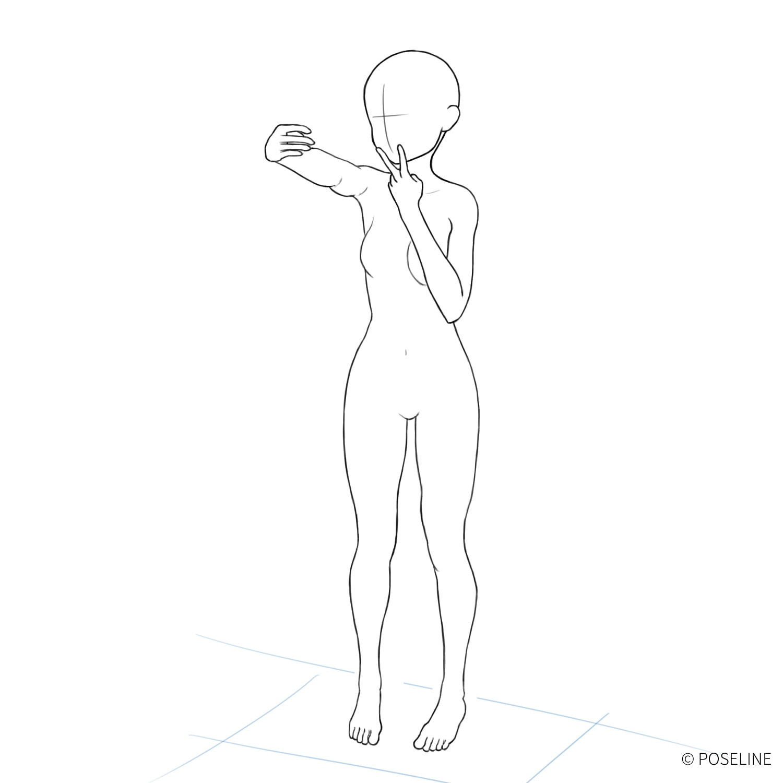 ポーズイラスト集 No.12