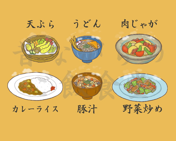 昔ながらのご飯食堂(献立(1))