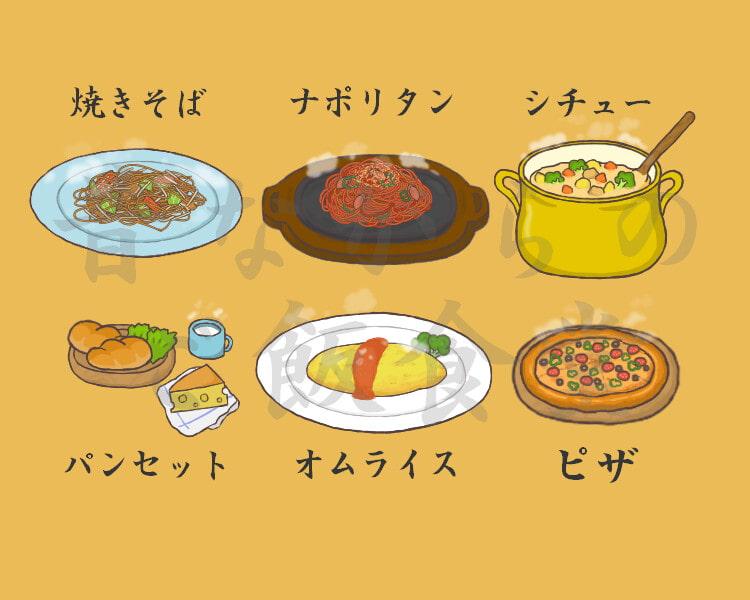 昔ながらのご飯食堂 献立(2)
