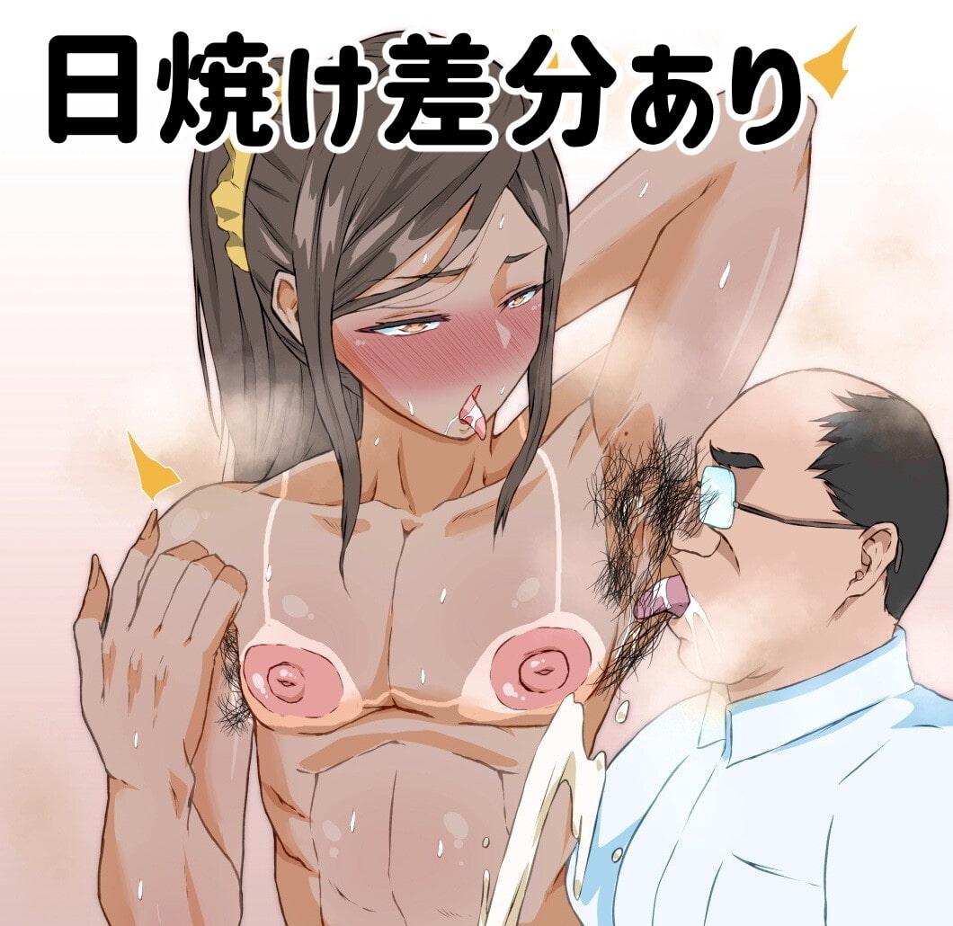筋肉女装妻♂の腋毛