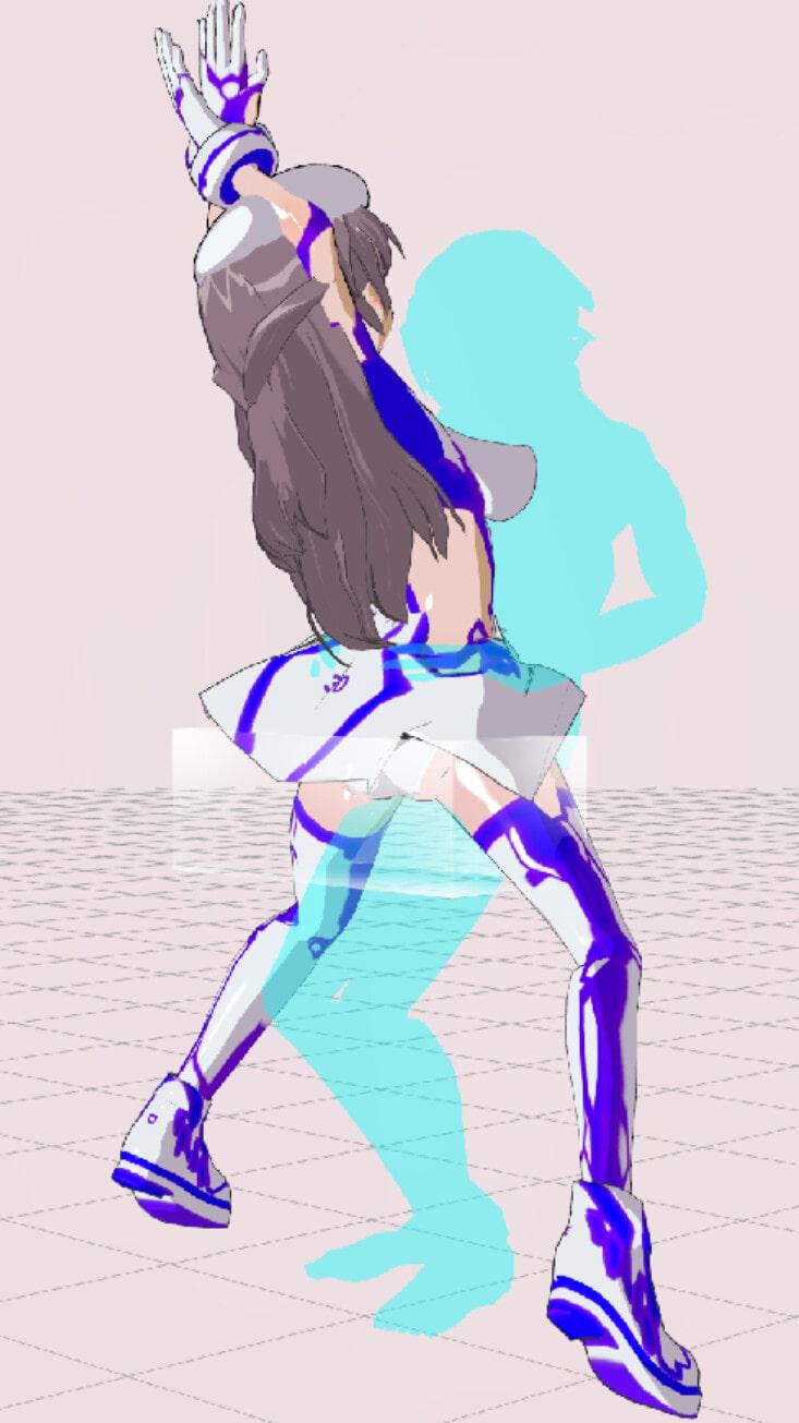3Dカスタム少女追加モーション立位smallpack5