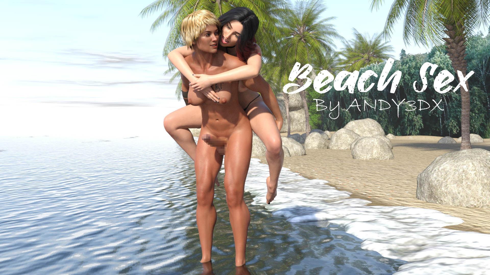 Beach Sex(Dickgirl)のサンプル画像1