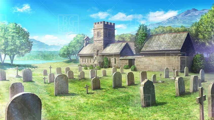 BG_教会裏の墓地