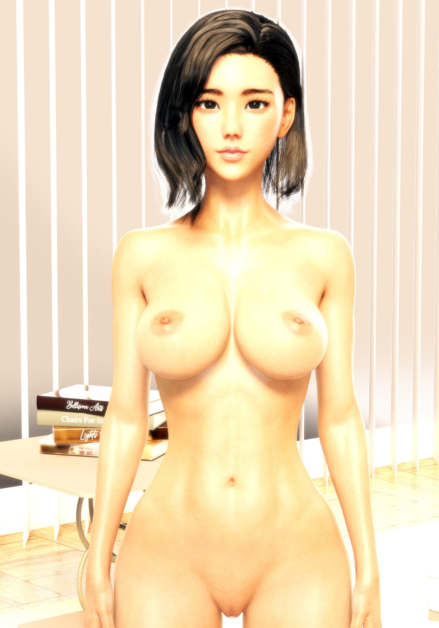 3DCGヌード集 美女ノ肉体 雫編 超絶フォトリアル版