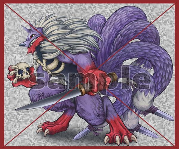 夜盗妖狐素材・厚塗り風