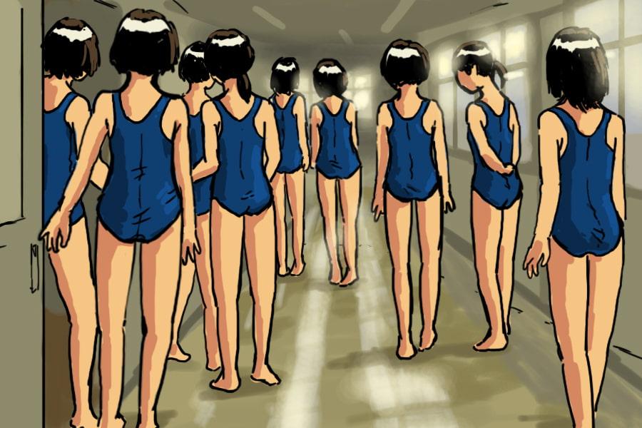 触手生物に襲われる女子生徒3