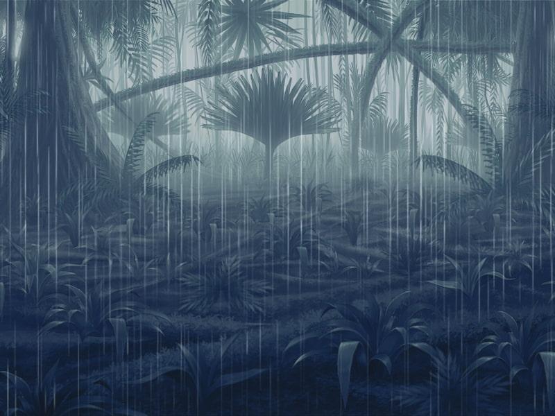単品五種背景素材vol1 ジャングル