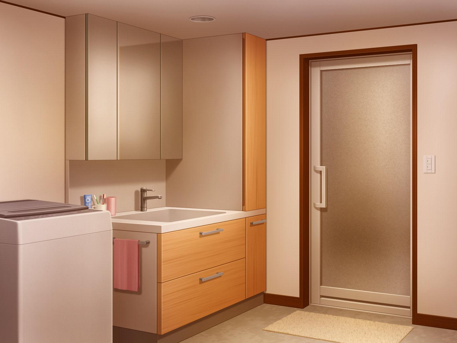 フリー背景素材 住宅 洗面室