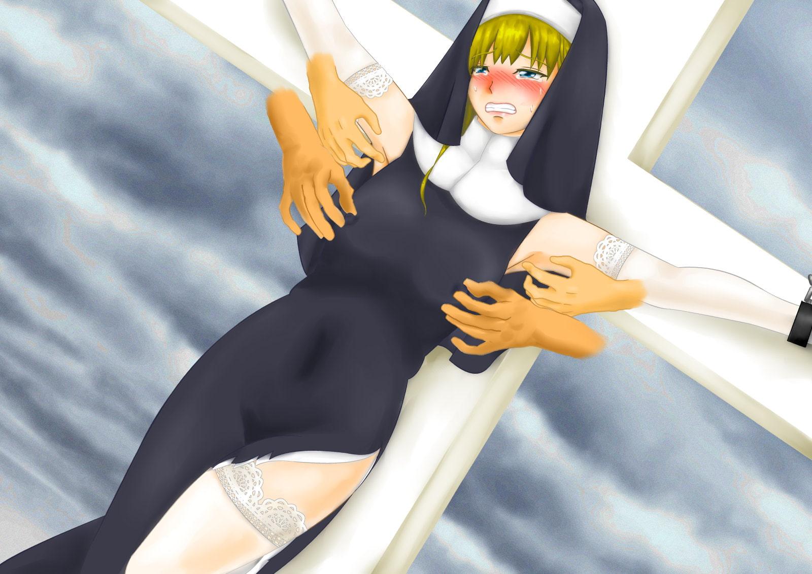清楚なシスターが禁欲の名の元に何年も寸止め地獄責め! 磔くすぐり、貞操帯、触手アイアンメイデンで絶頂禁止快楽拷問