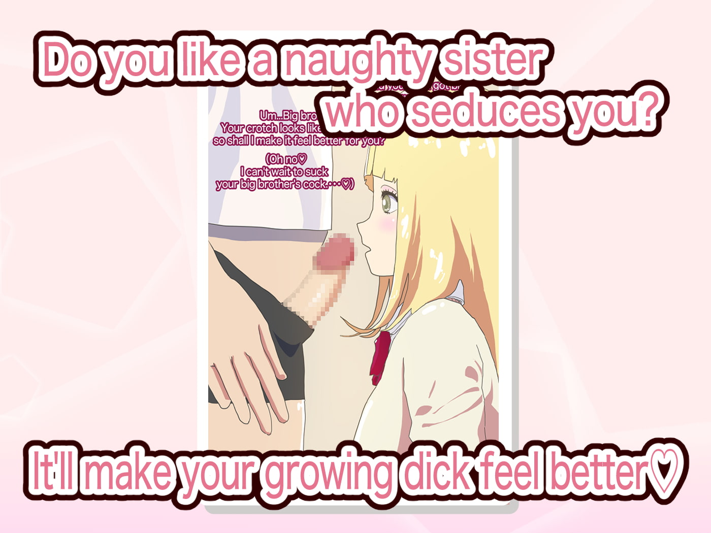 My blonde loli high school girl sister seduces me and I attack her.