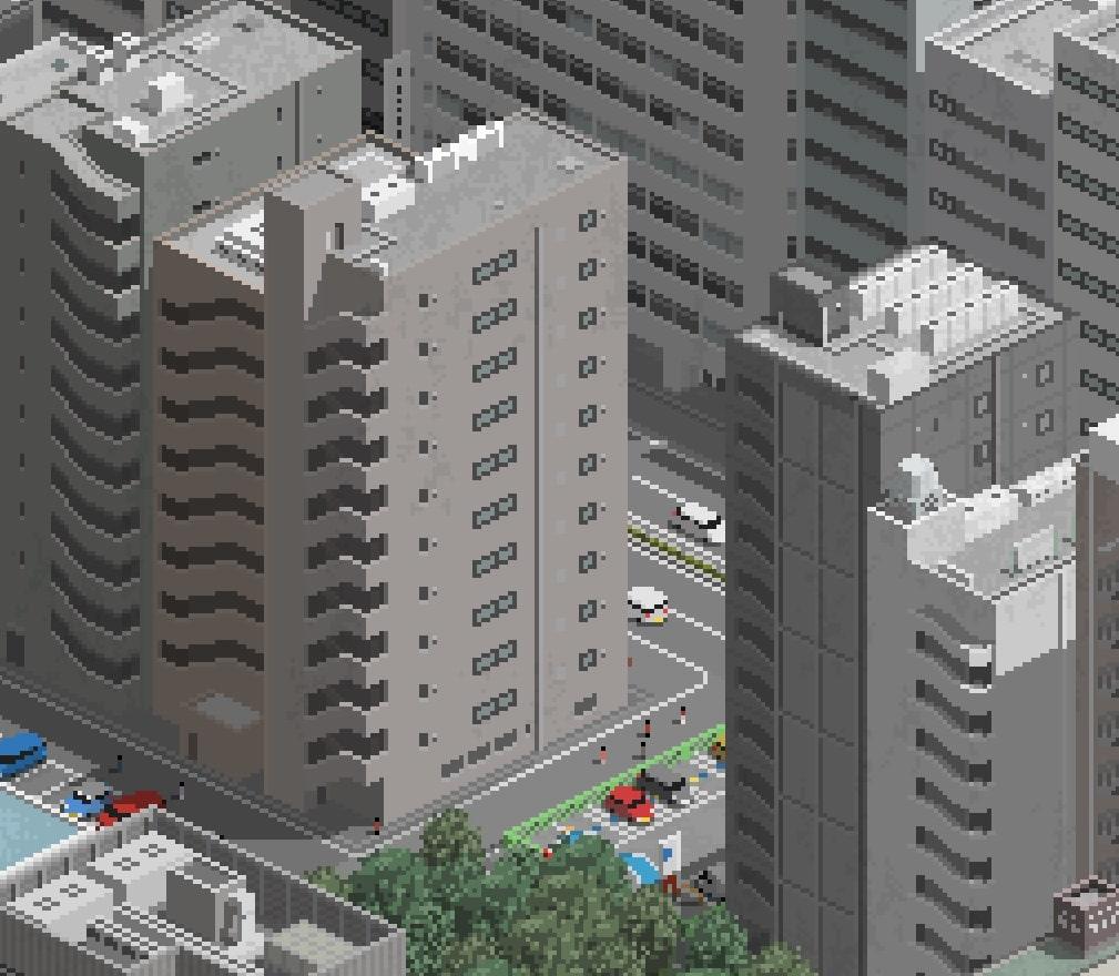 中密度オフィス街ビルセットA