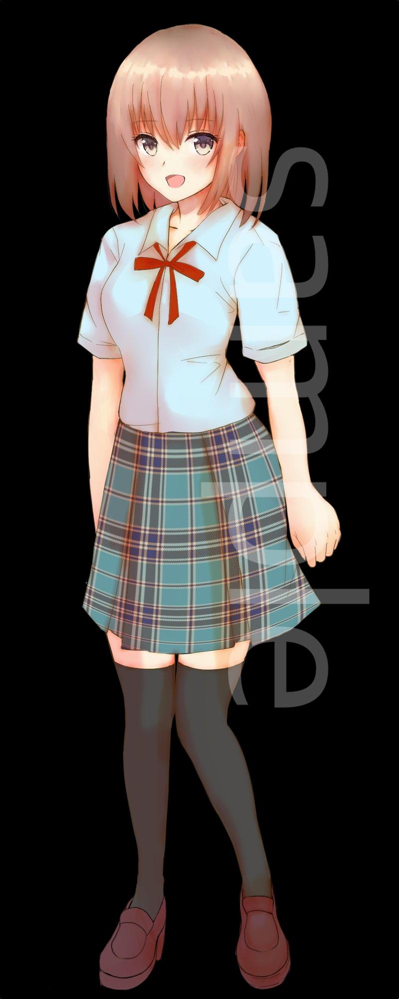 制服の女の子立ち絵9