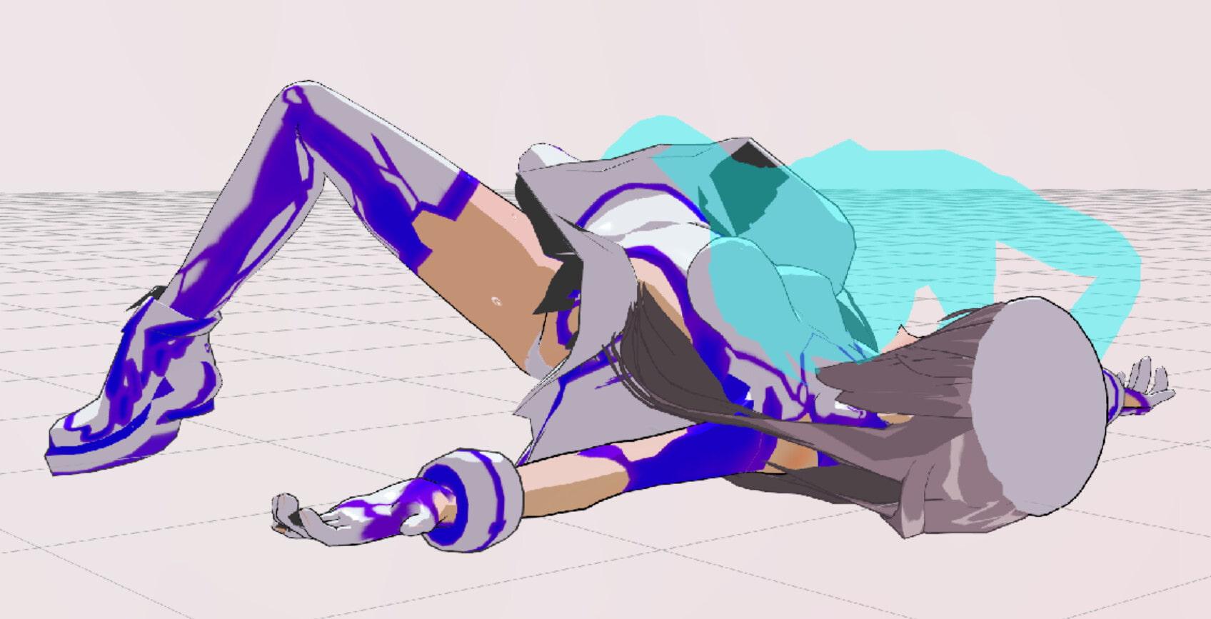 3Dカスタム少女追加モーション混在SmallPack4(てまーん)