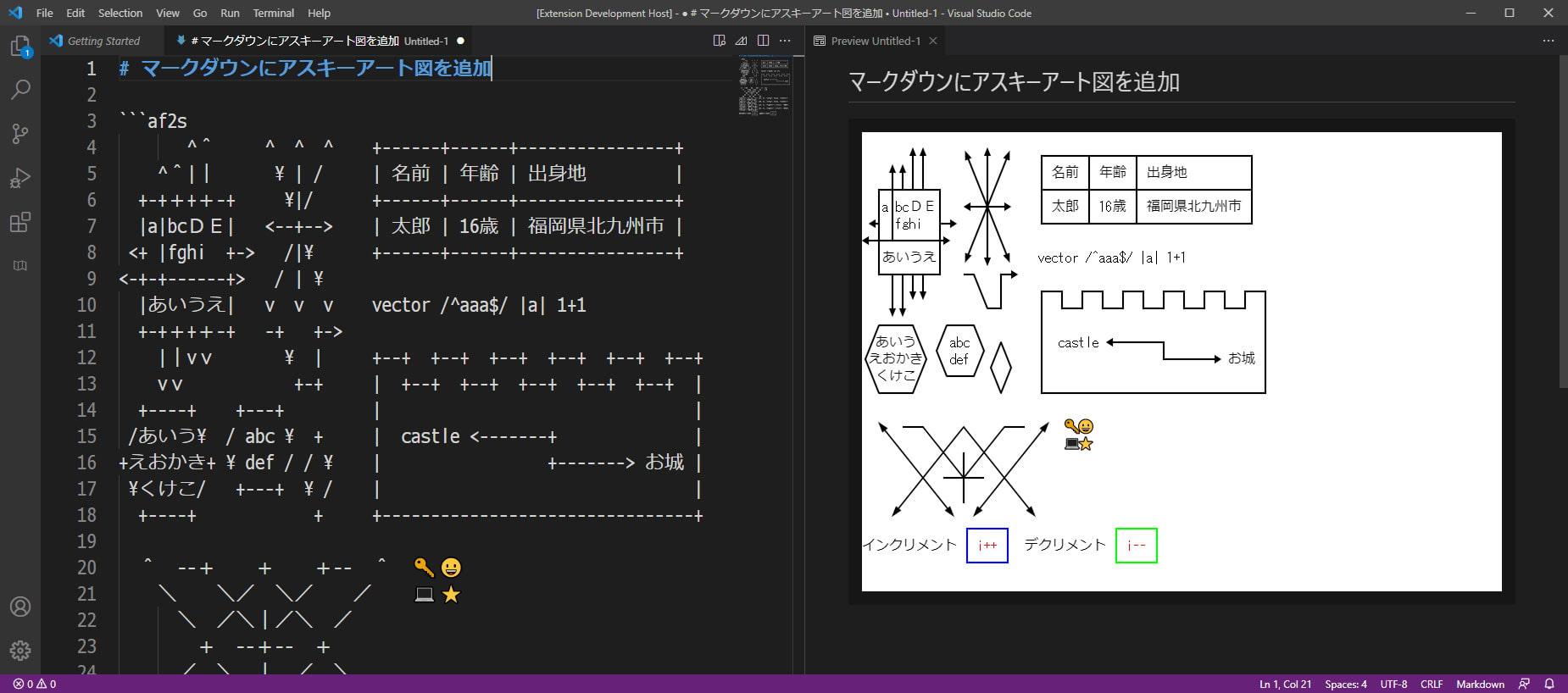 Visual Studio Codeの拡張機能を作ってMarkdown表示を改造する本