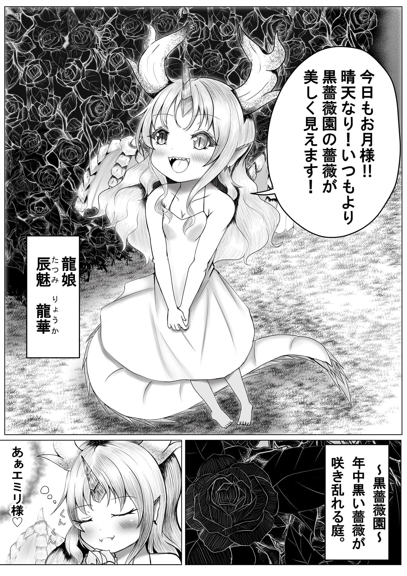 RJ344023 黒薔薇園に咲く一輪の紅薔薇 [20210920]