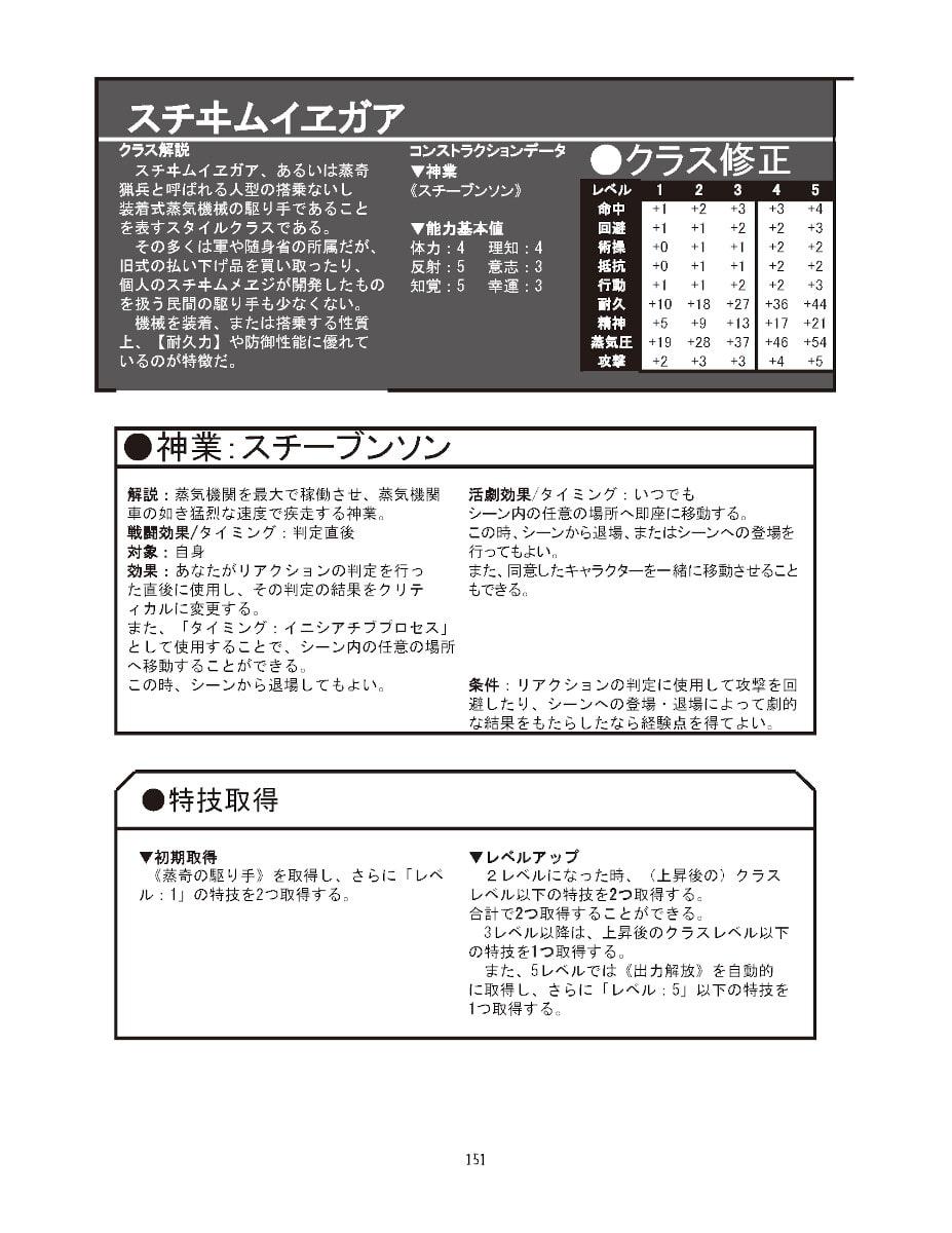 和風伝奇スチームパンクRPG『扶桑蒸奇譚・改』