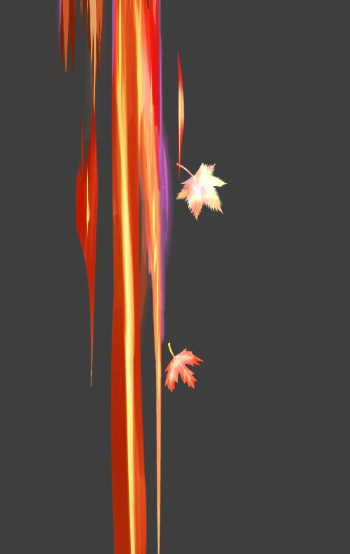 素材をどうぞ『秋の風ブラシ厚塗りタイプ』