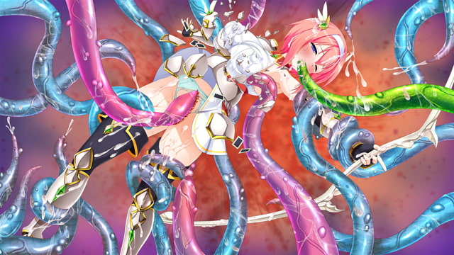 魔法聖女 姫騎士カノン くっ殺せ! 触手まみれの巨乳変身美少女戦士 通常版のサンプル画像