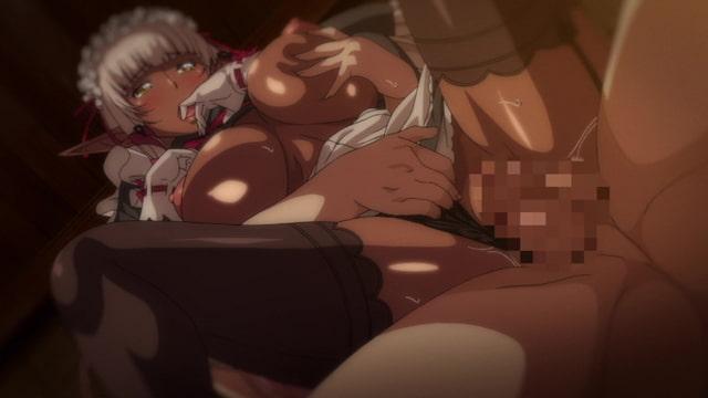 OVA ようこそ!スケベエルフの森へ #4 エルフもダークエルフも仲良く子作り! 救世主様と『ハーレム生活』 【HD版】