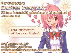 -for characters- Emotion icons pack [Mori no oku no kakurezato]
