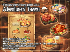 Fantasy game icons pack Vol.3: Adventurers' Tavern [Mori no oku no kakurezato]